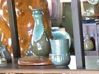 上野焼庚申窯の緑青流し