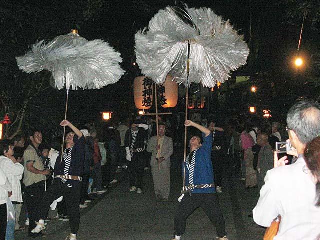 八所宮 深夜の大名行列